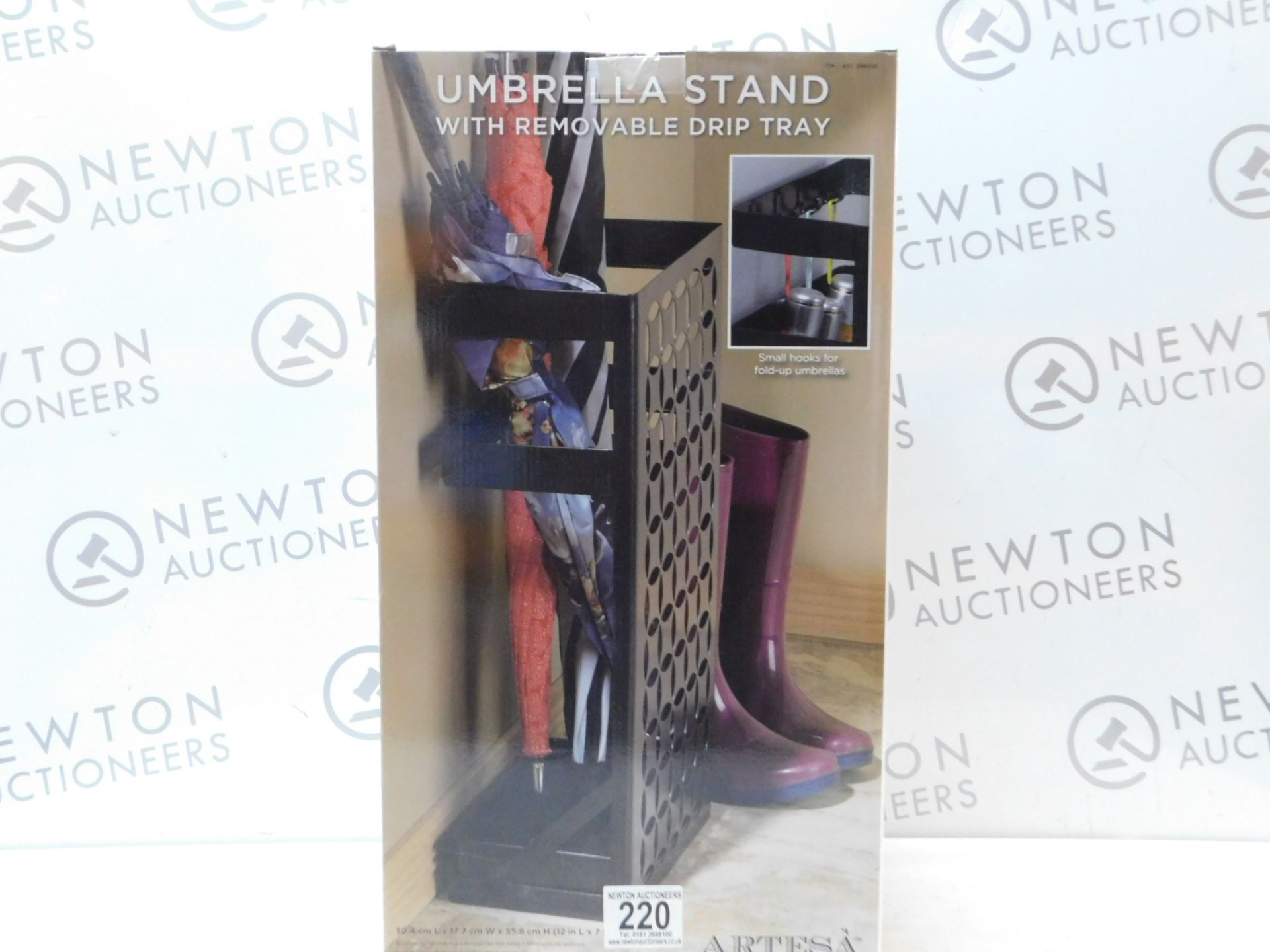 Lot 220 - 1 BRAND NEW BOXED ARTESA UMBRELLA STAND WITH REMOVABLE DRIP TRAY RRP £44.99