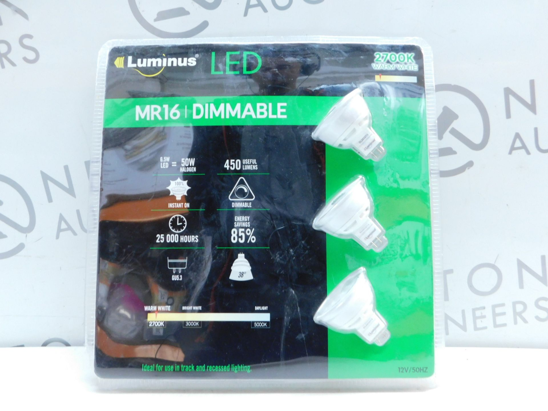 Lot 35 - 1 PACK OF 3 FEIT ELECTRIC MR16 LED DIMMABLE 50W REPLACEMENT BULBS RRP £19.99