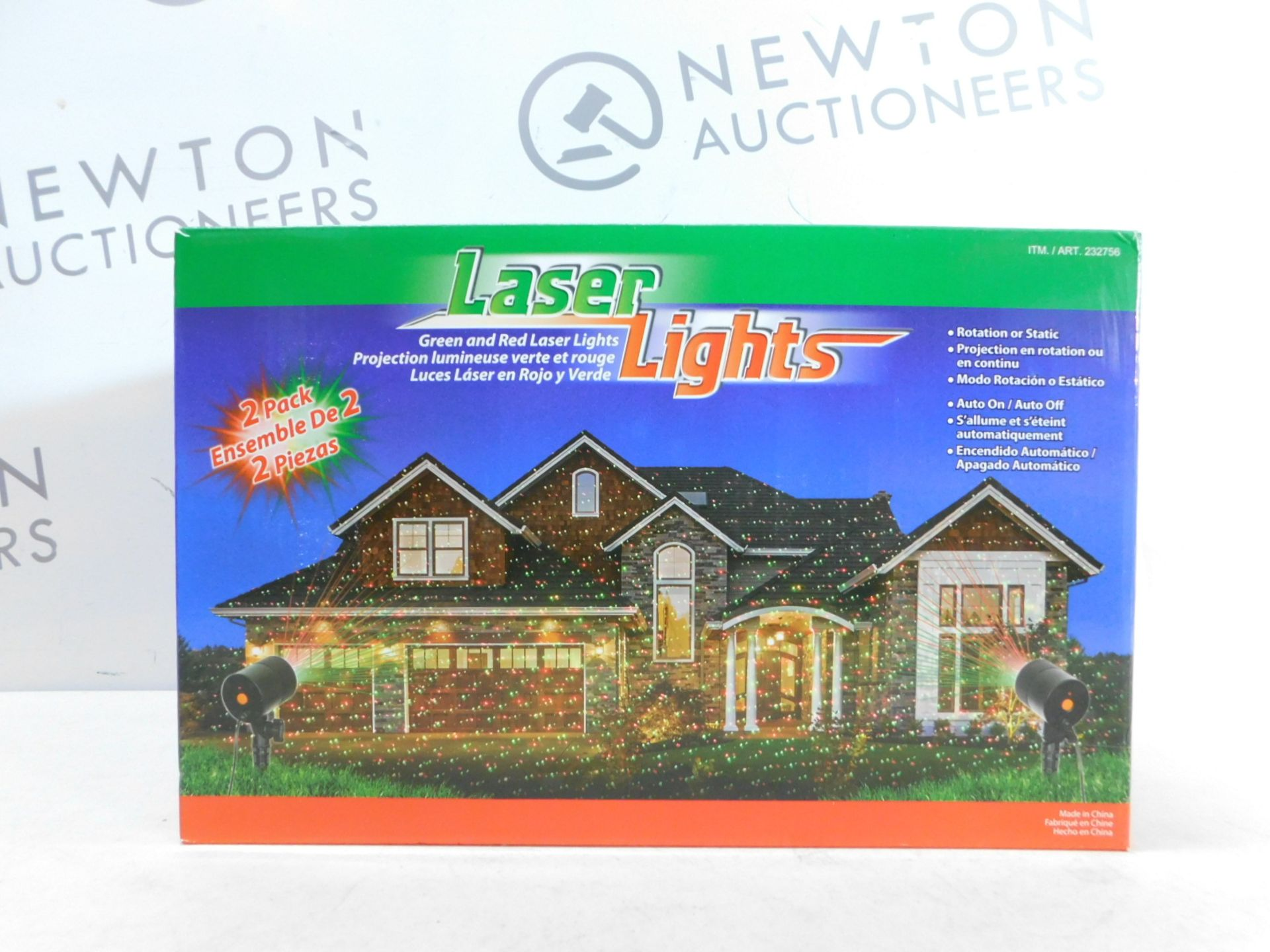 Lot 308 - 1 BRAND NEW BOXED LASER LIGHTS GREEN & RED OUTDOOR/ INDOOR LIGHTS RRP £29.99