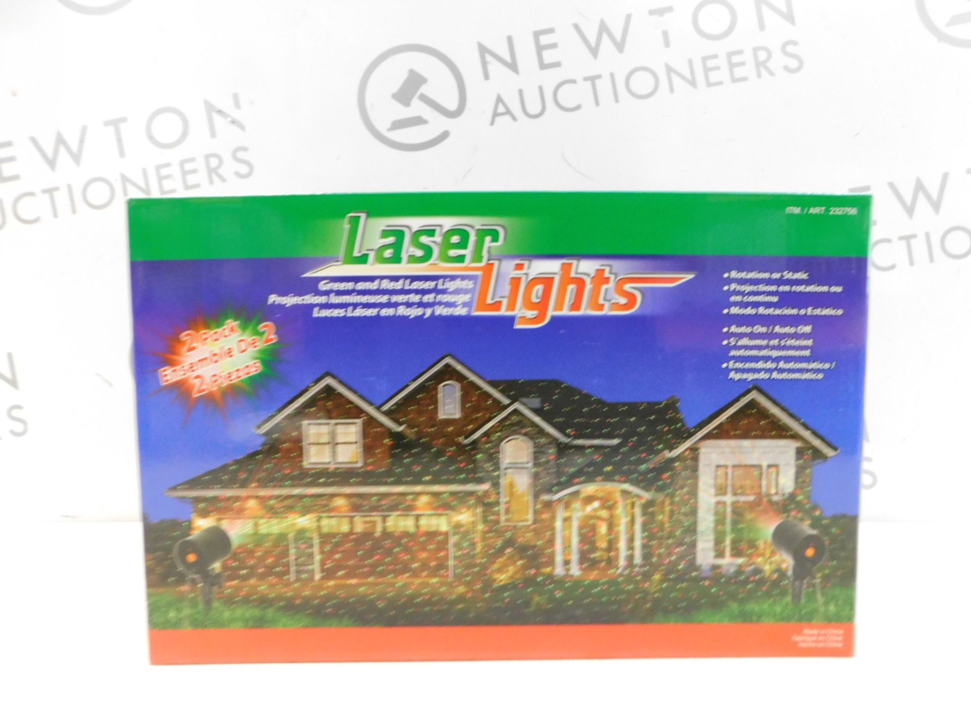Lot 357 - 1 BRAND NEW BOXED LASER LIGHTS GREEN & RED OUTDOOR/ INDOOR LIGHTS RRP £29.99