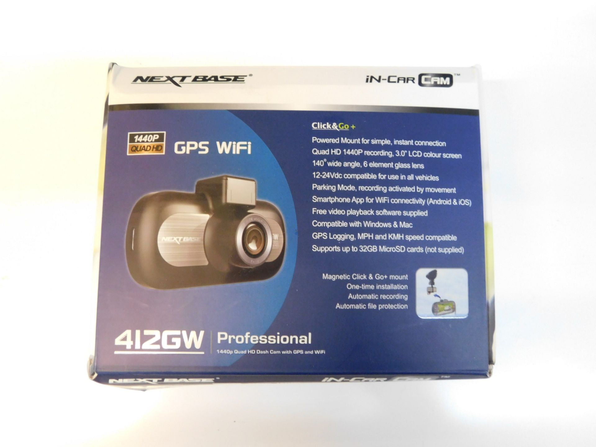 Lotto 1042 - 1 BOXED NEXT BASE 412GW PROFESSIONAL HIGH DEFINITION IN CAR CAM RRP £199.99
