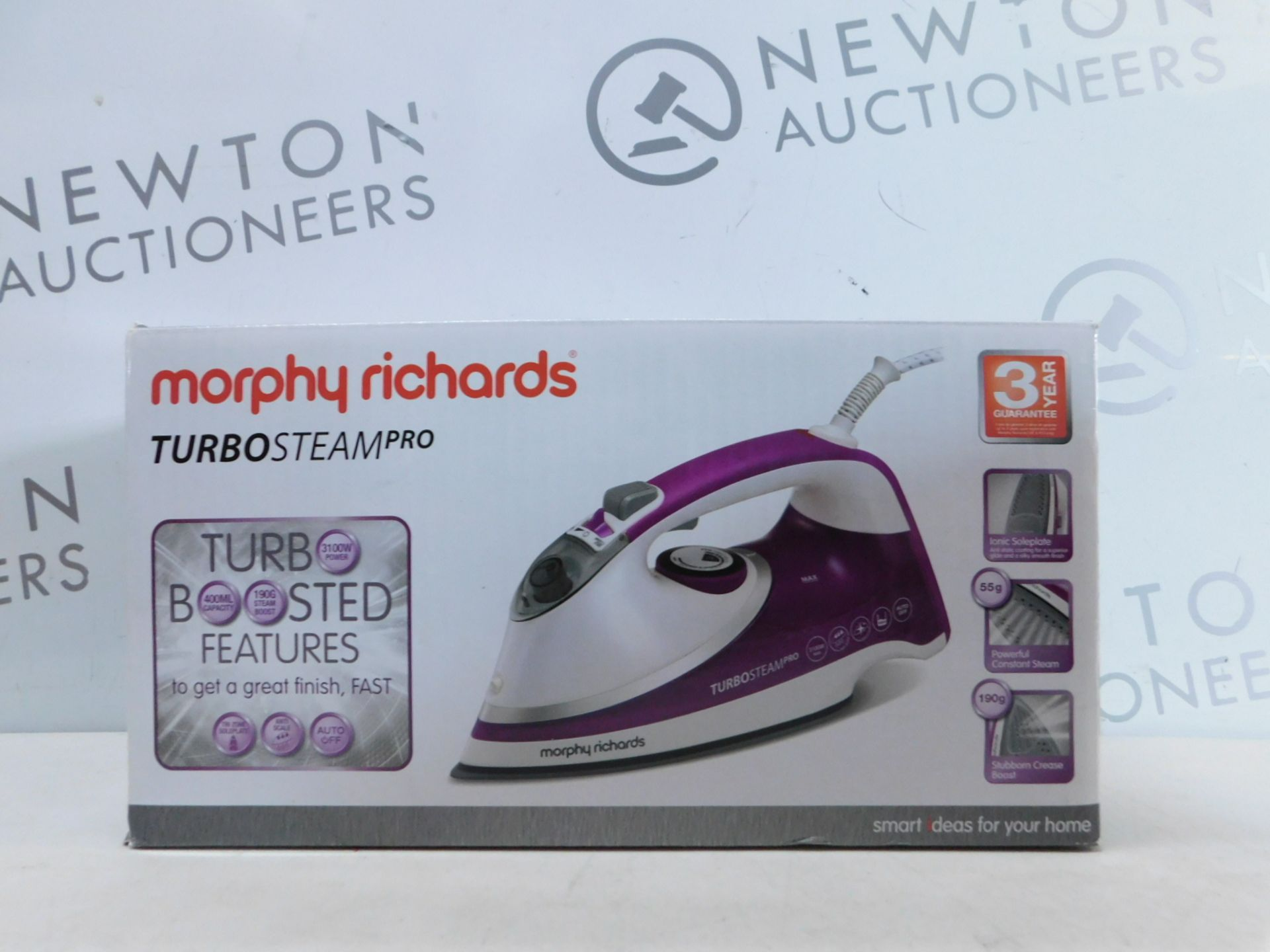 Lot 298 - 1 BOXED MORPHY RICHARDS TURBO STEAM PRO IRON RRP £44.99