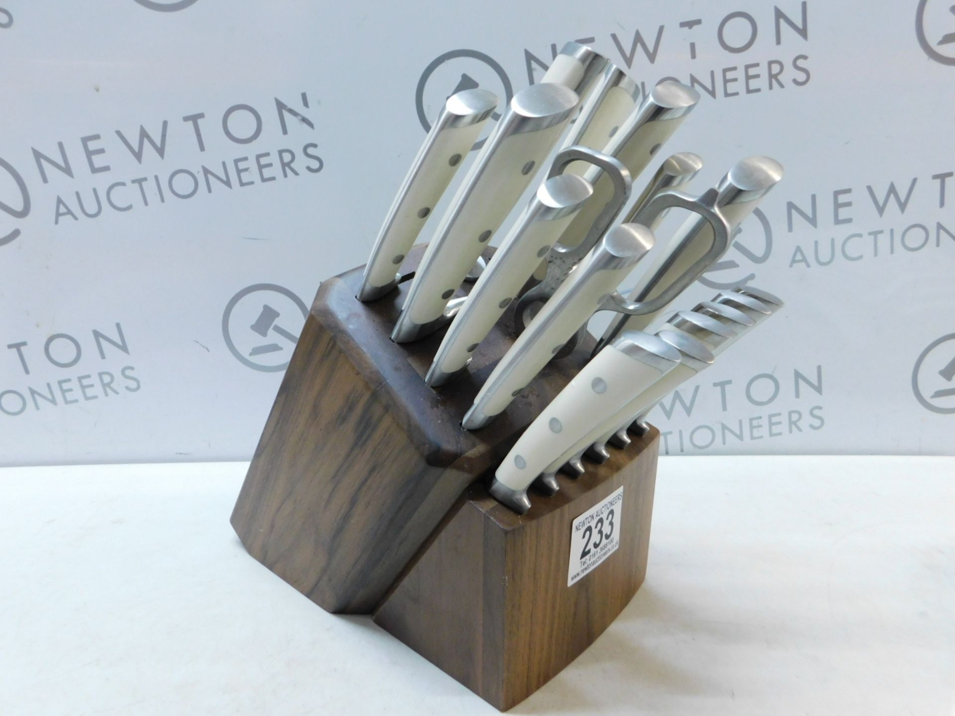 Lot 233 - 1 CANGSHAN S1 SERIES 17-PIECE FORGED GERMAN STEEL KNIFE SET RRP £279.99