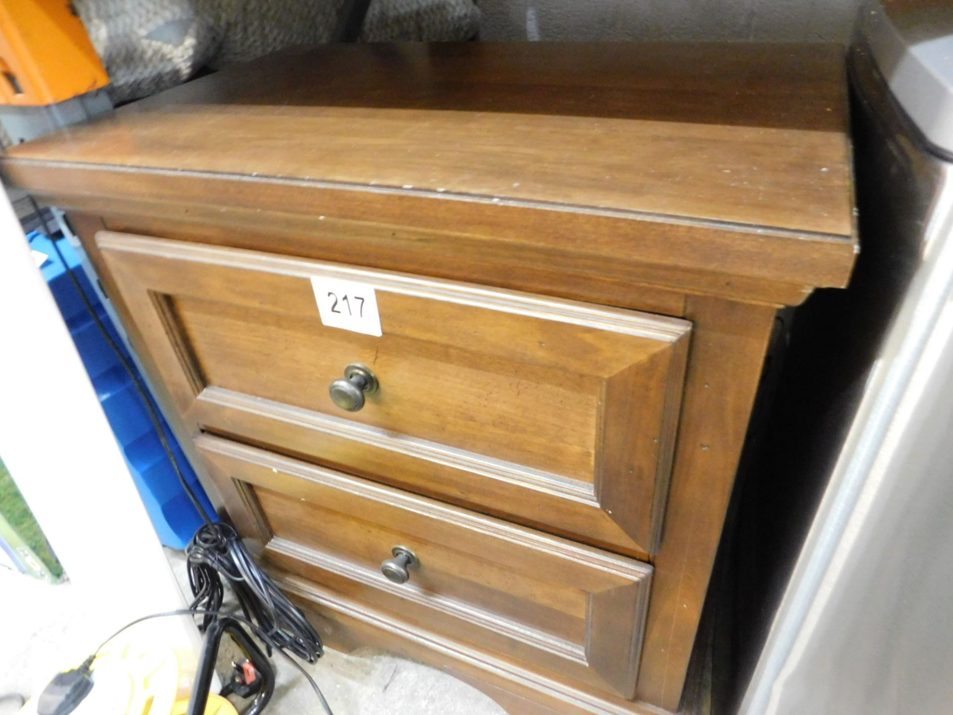 Lot 217 - 1 UNIVERSAL BROADMOORE NIGHTSTAND WITH 2 STORAGE DRAWERS RRP £119.99