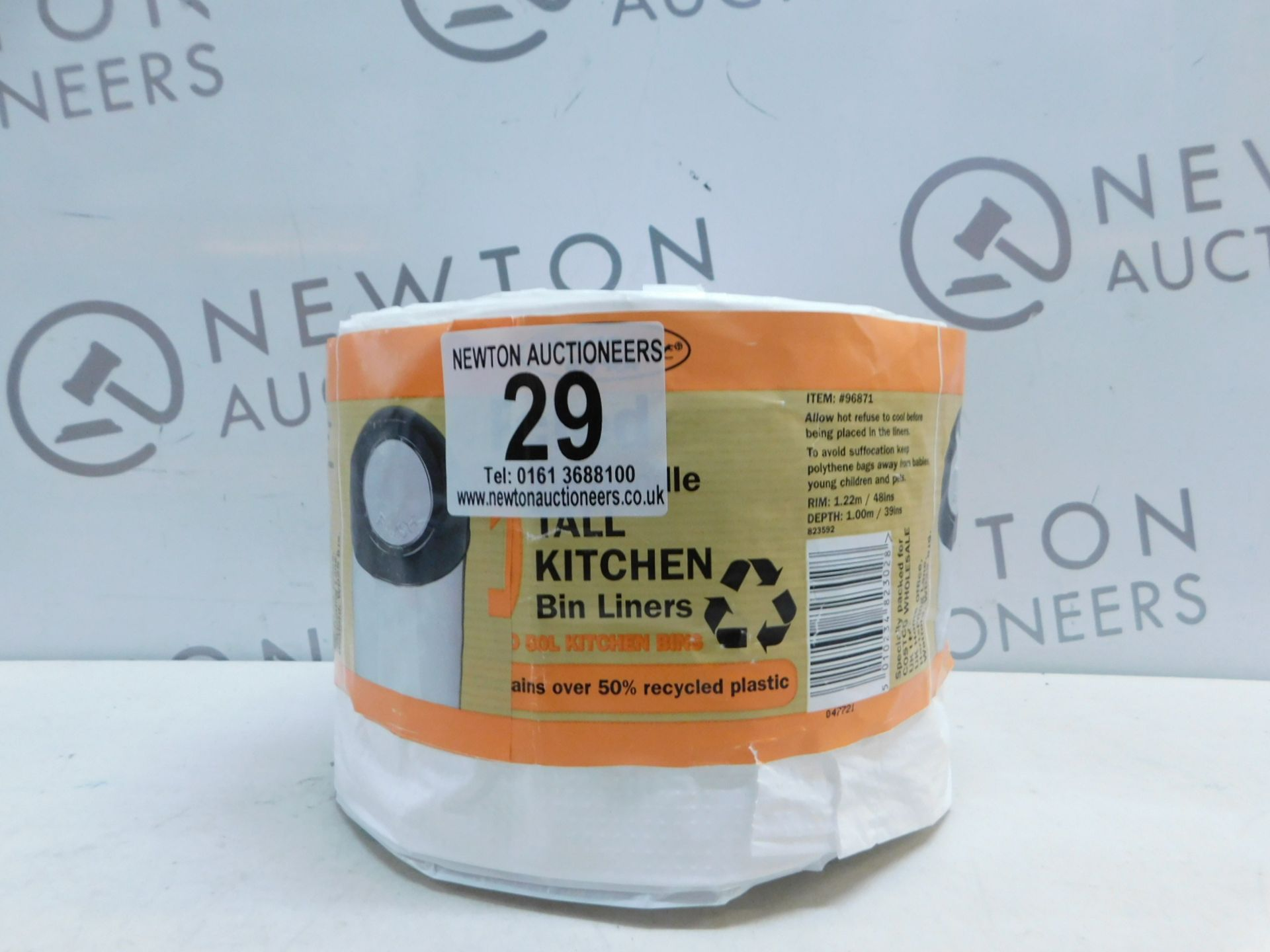 Lot 29 - 1 LARGE ROLL OF WHITE KITCHEN BAGS RRP £12.99