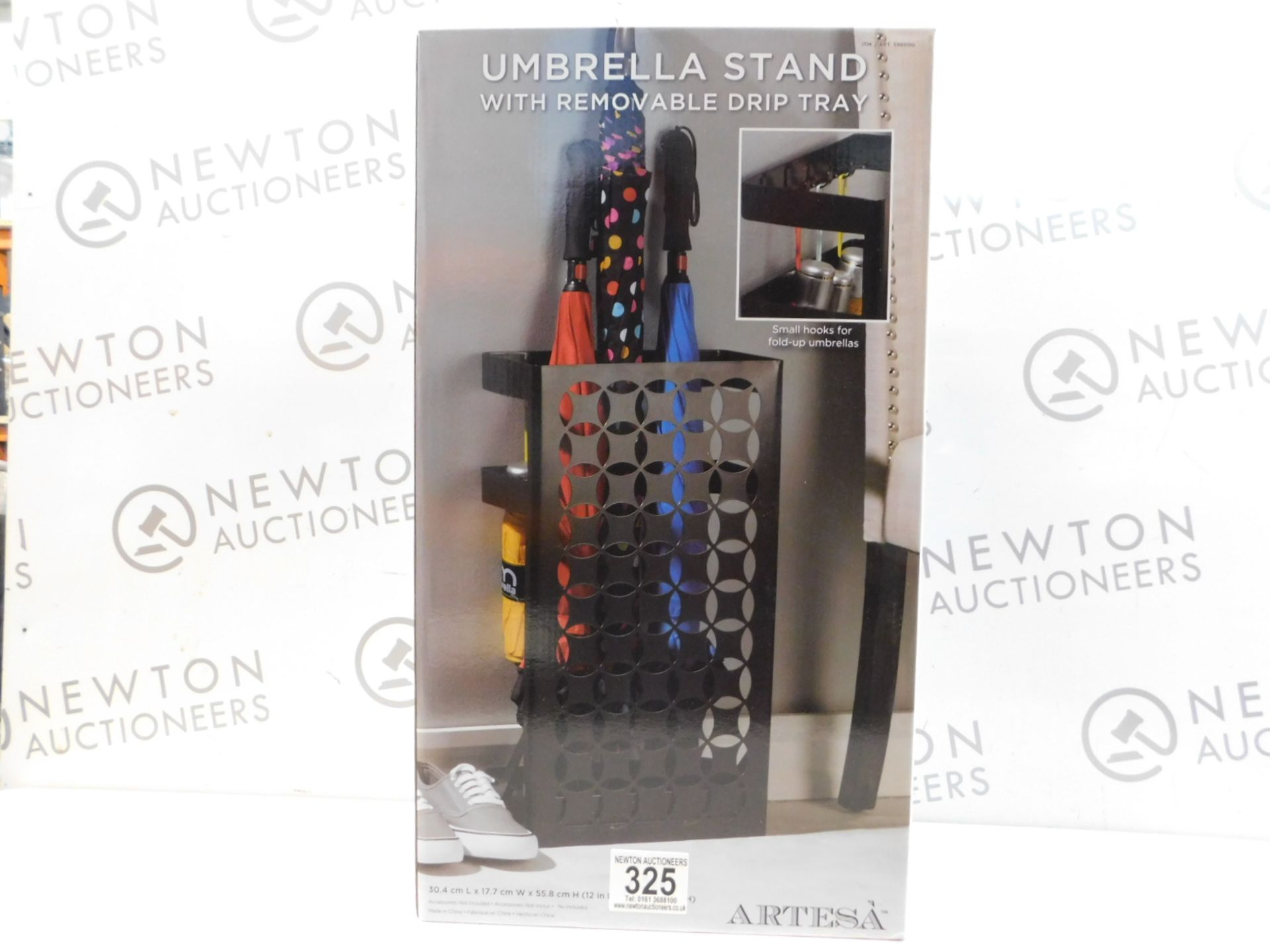 Lot 325 - 1 BRAND NEW BOXED ARTESA UMBRELLA STAND WITH REMOVABLE DRIP TRAY RRP £44.99