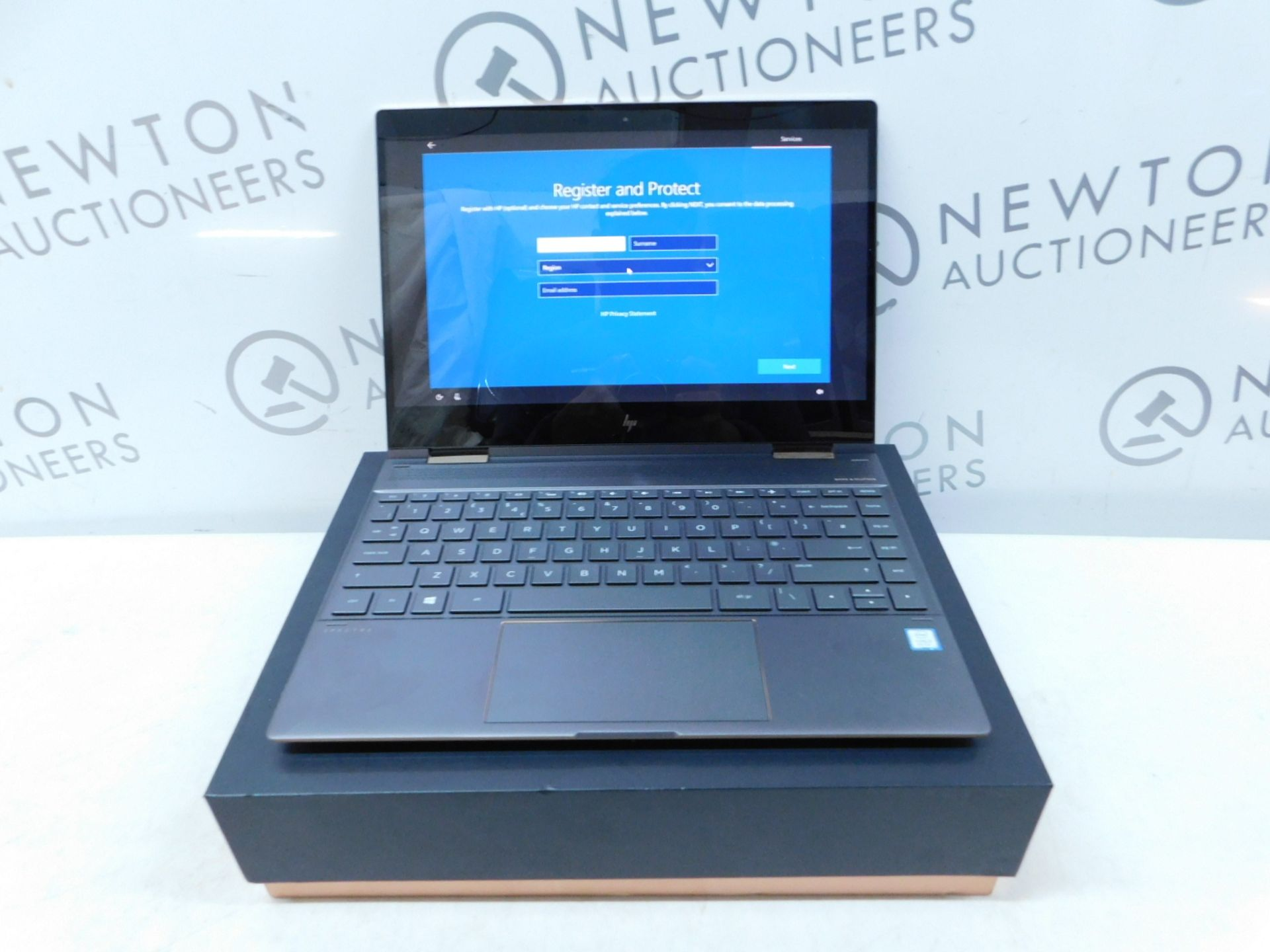"Lot 984 - 1 BOXED HP SPECTRE X360 13AE004NA 13.3"" 4K CONVERTIBLE LAPTOP WITH STYLUS, INTEL CORE I5-8250U,"