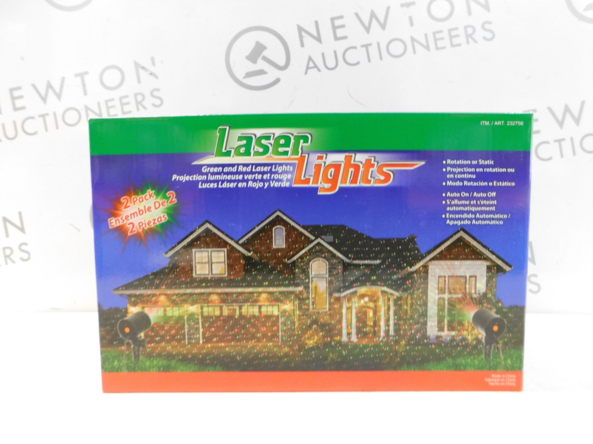 Lot 356 - 1 BRAND NEW BOXED LASER LIGHTS GREEN & RED OUTDOOR/ INDOOR LIGHTS RRP £29.99