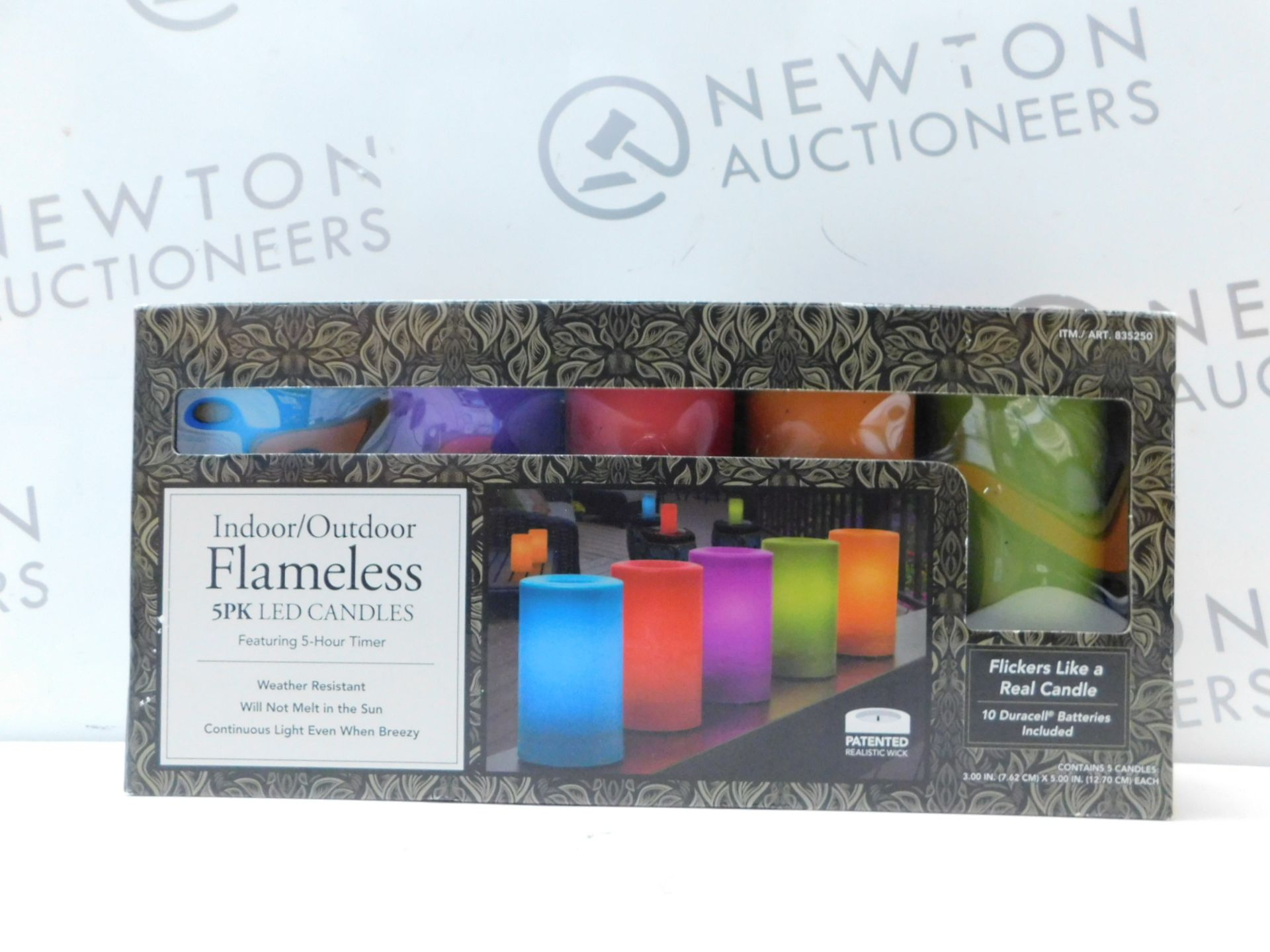 Lot 251 - 1 BOXED 5PK INDOOR/ OUTDOOR MULTI-COLOURED LED CANDLES RRP £39.99