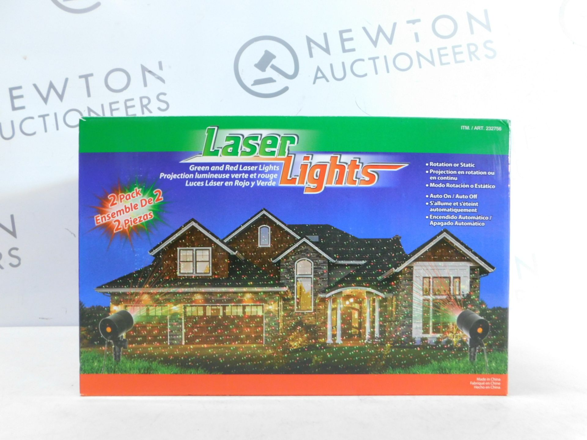Lot 307 - 1 BRAND NEW BOXED LASER LIGHTS GREEN & RED OUTDOOR/ INDOOR LIGHTS RRP £29.99