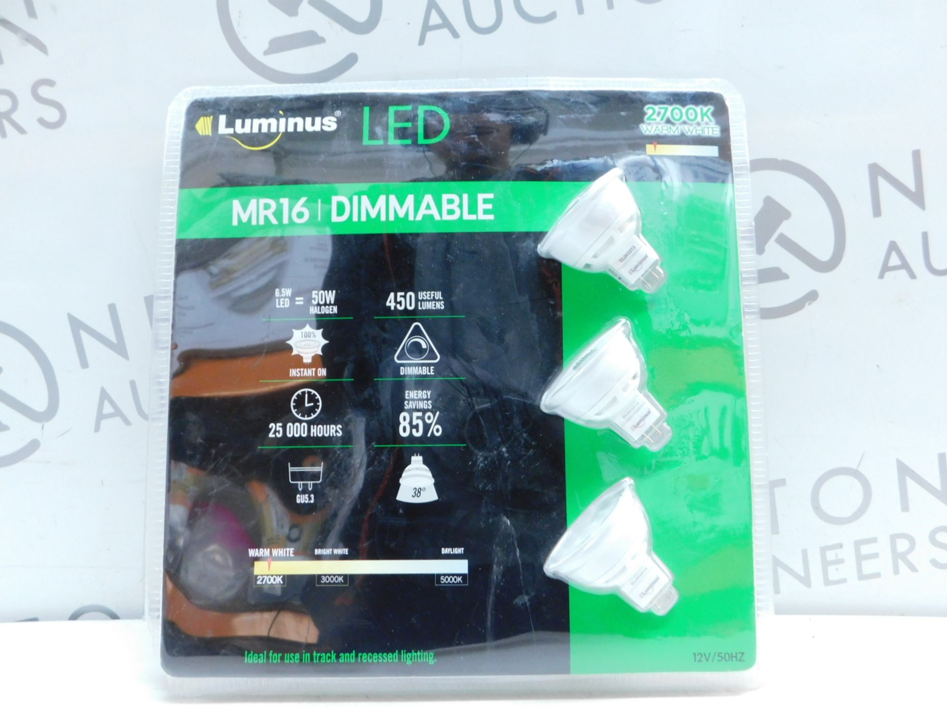 Lot 34 - 1 PACK OF 3 FEIT ELECTRIC MR16 LED DIMMABLE 50W REPLACEMENT BULBS RRP £19.99