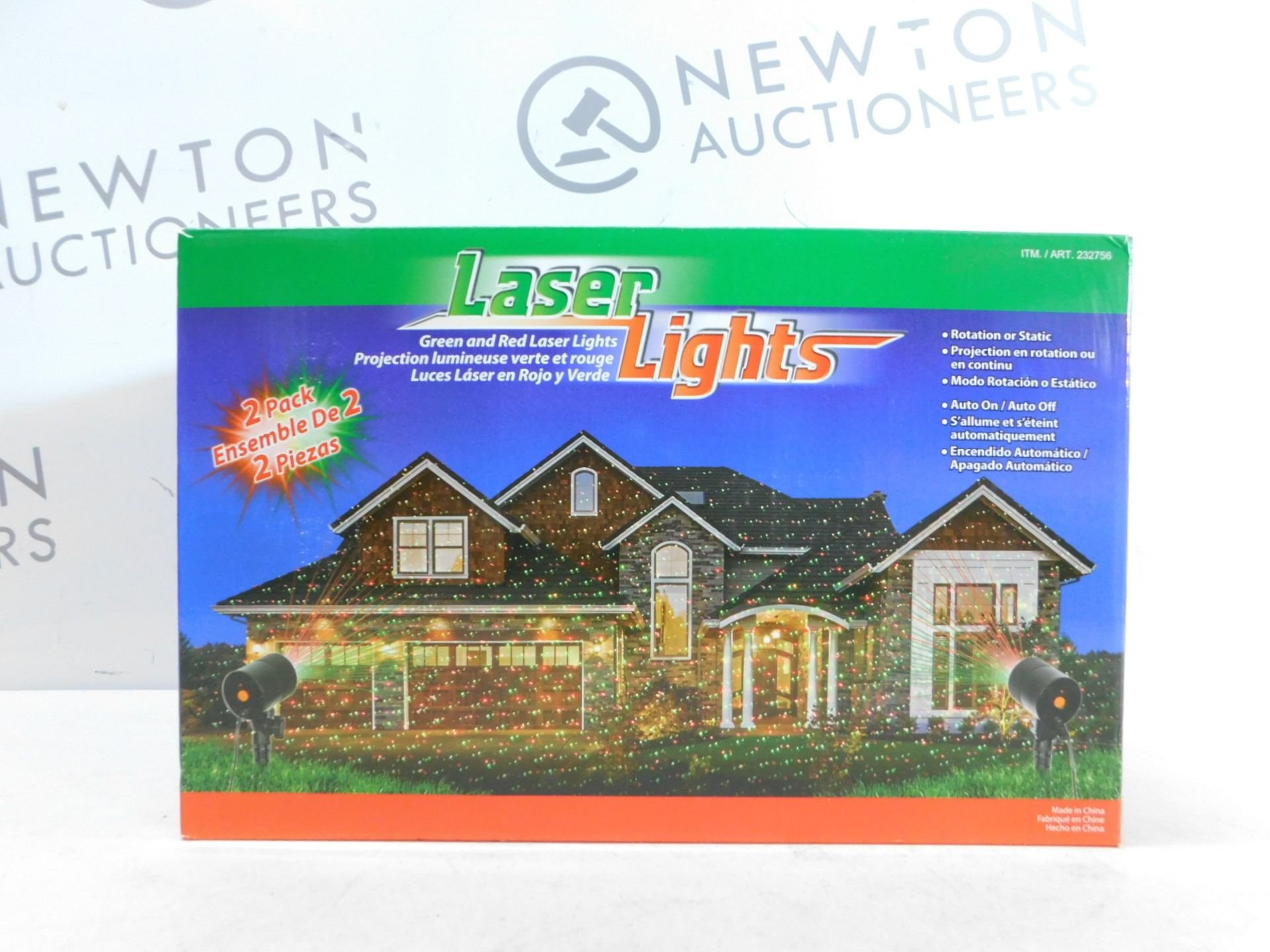 Lot 309 - 1 BRAND NEW BOXED LASER LIGHTS GREEN & RED OUTDOOR/ INDOOR LIGHTS RRP £29.99