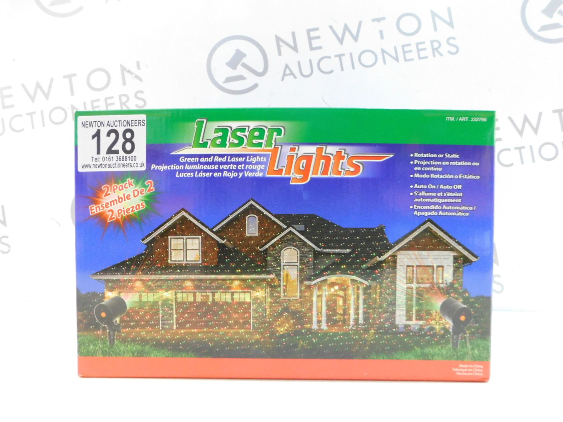 Lot 128 - 1 BRAND NEW BOXED LASER LIGHTS GREEN & RED OUTDOOR/ INDOOR LIGHTS RRP £29.99