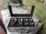 Lot 2 - 8 piece hole saw set in metal carry case, new