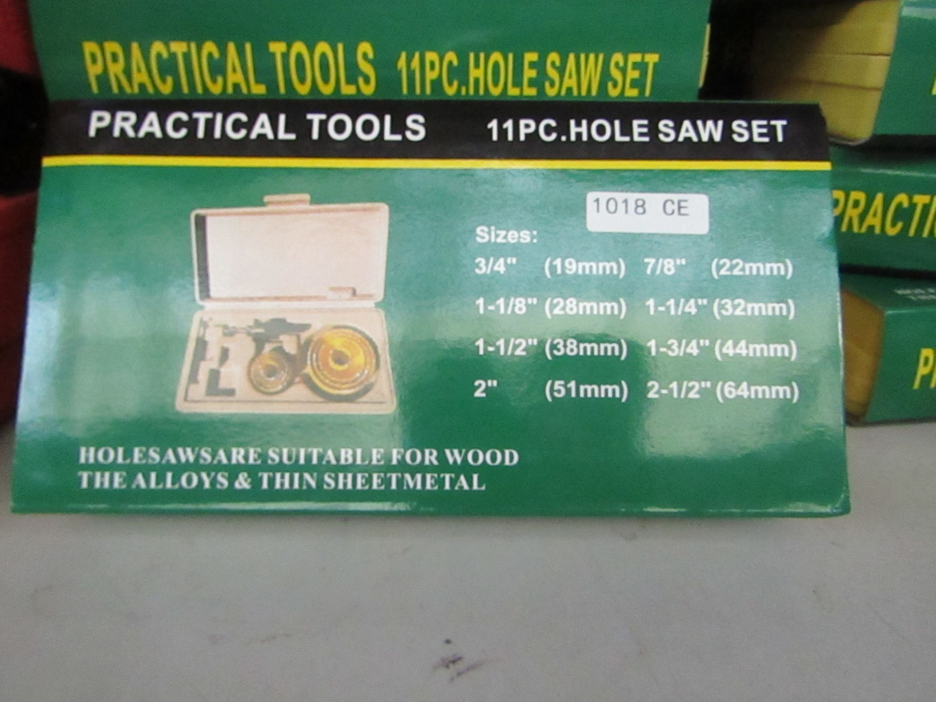 Lot 51 - Practical tools 11 piece hole saw set in carry case