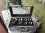 Lot 10 - 8 piece hole saw set in metal carry case, new