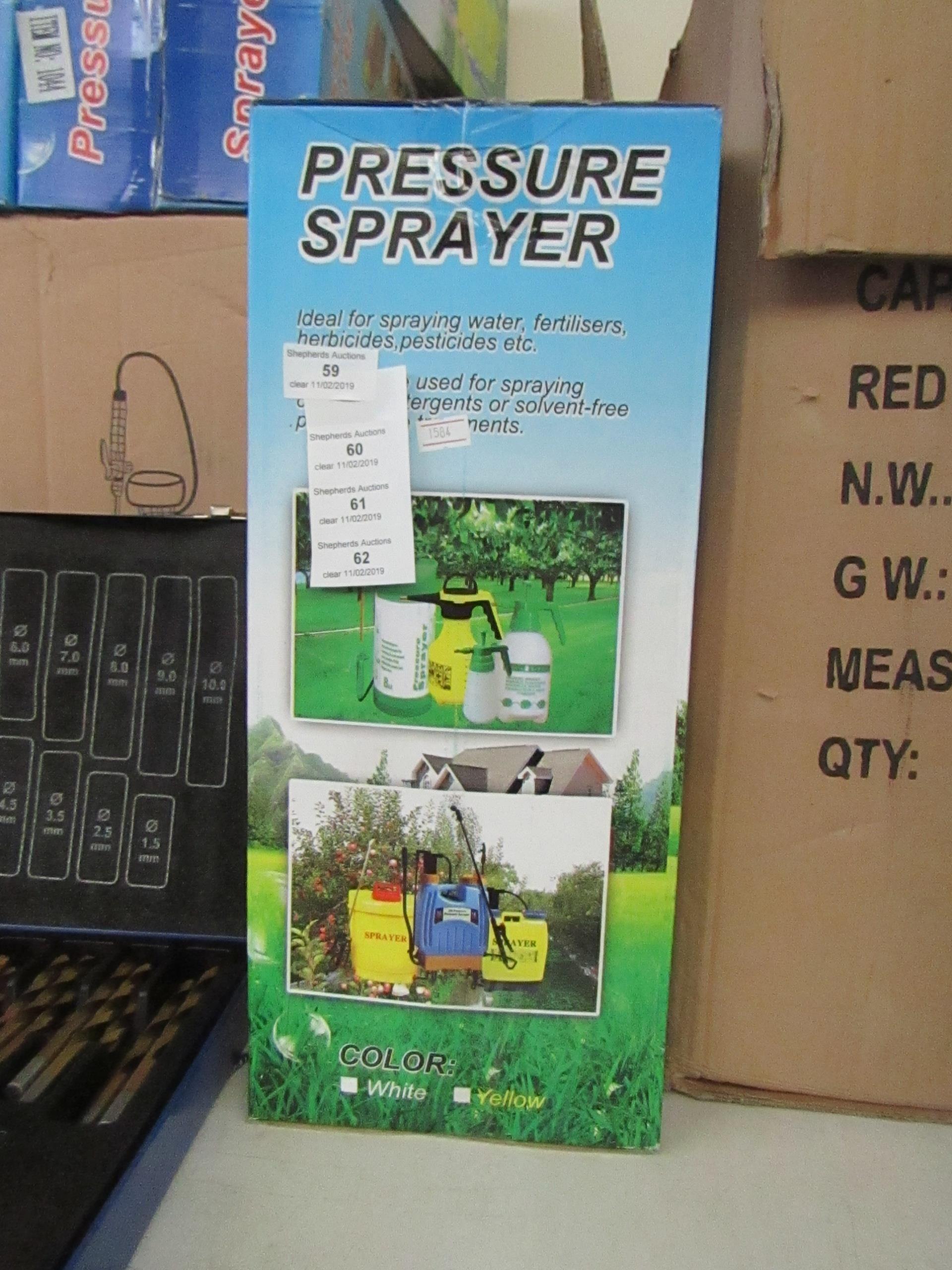 Lot 60 - 5ltr pressure sprayer, new & boxed