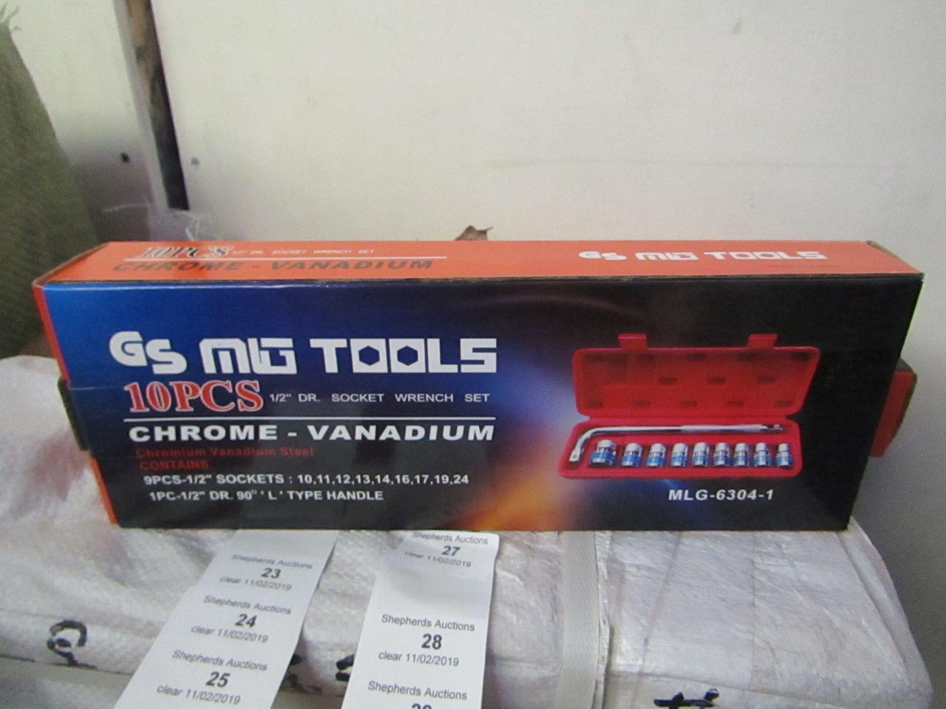 Lot 31 - 10 piece Chrome Vanadium Socket wrench set, new