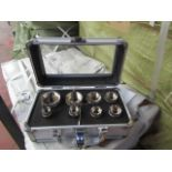 Lot 3 - 8 piece hole saw set in metal carry case, new
