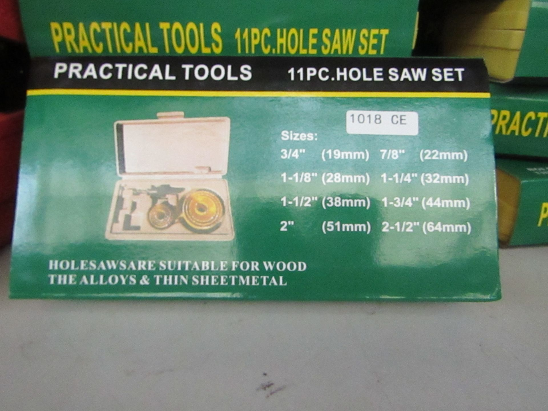 Lot 50 - Practical tools 11 piece hole saw set in carry case