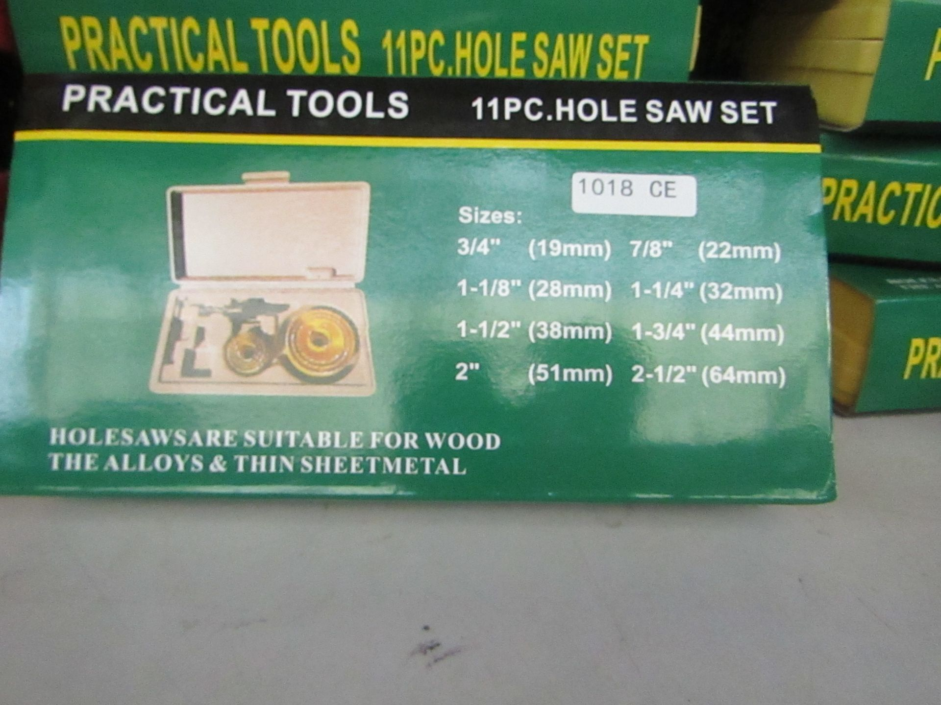 Lot 47 - Practical tools 11 piece hole saw set in carry case