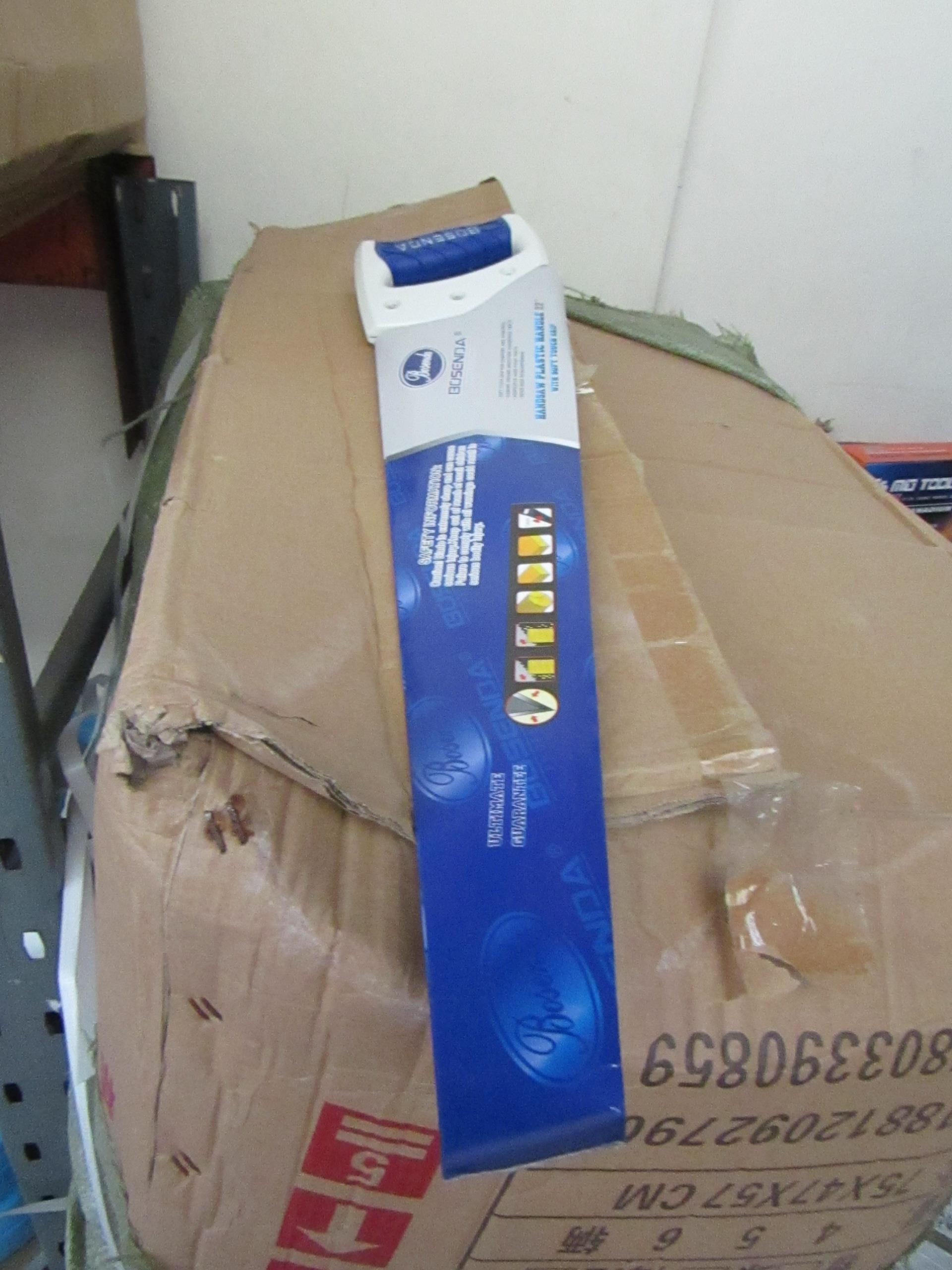 "Lot 33 - Bossenda Professional 22"" Hand saw with soft grip handle."