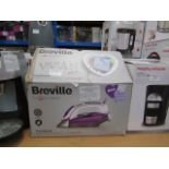 Lot 5 - breville press xpress 2800w ceramic steam iron with auto-off boxed powers on