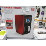 Lot 17 - Morphy Richards digital coffee machine, powers on and boxed