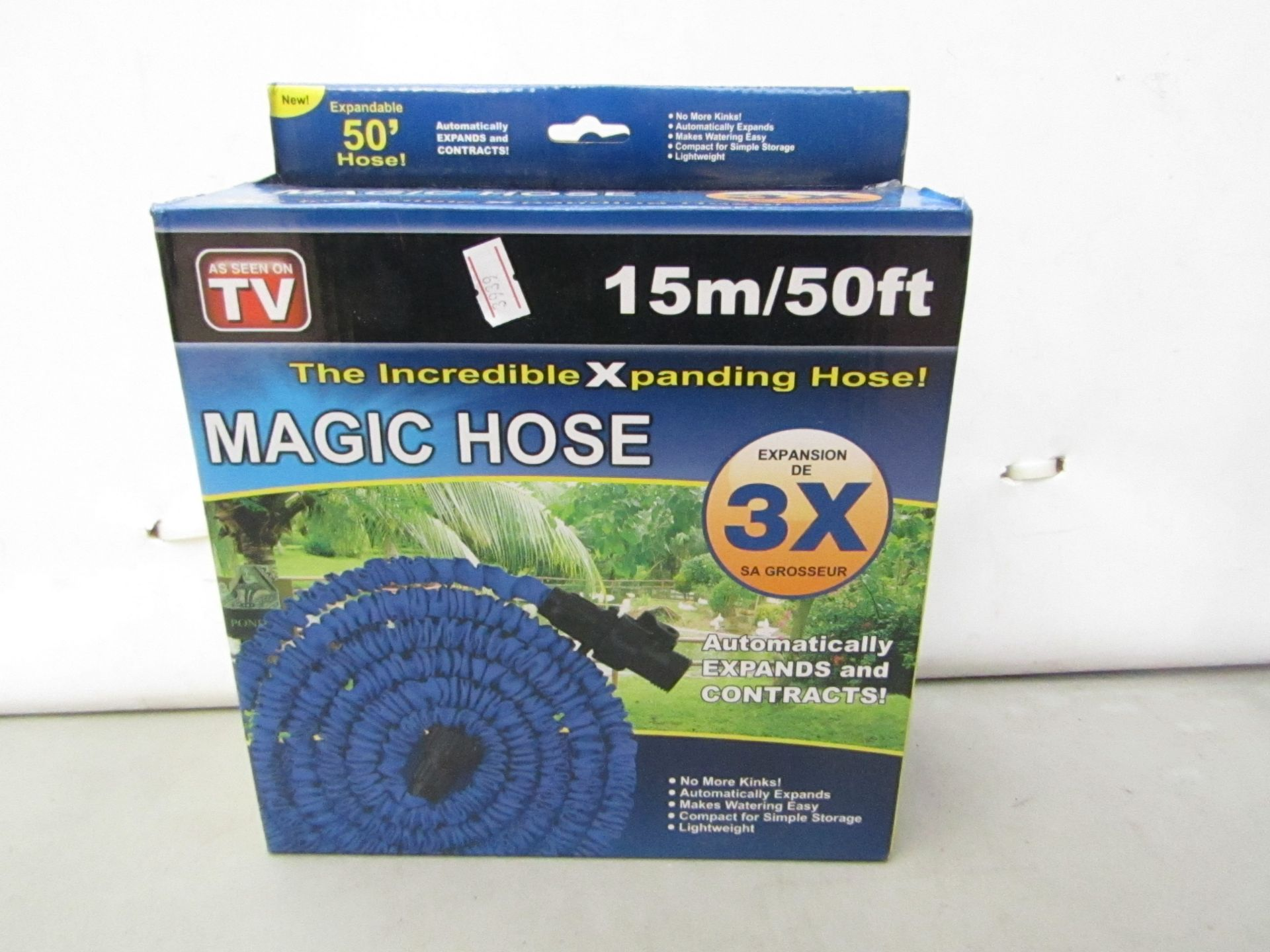 Lot 19 - Magic Hose, The Incredible Xpanding Hose! Approx 15 M. Boxed