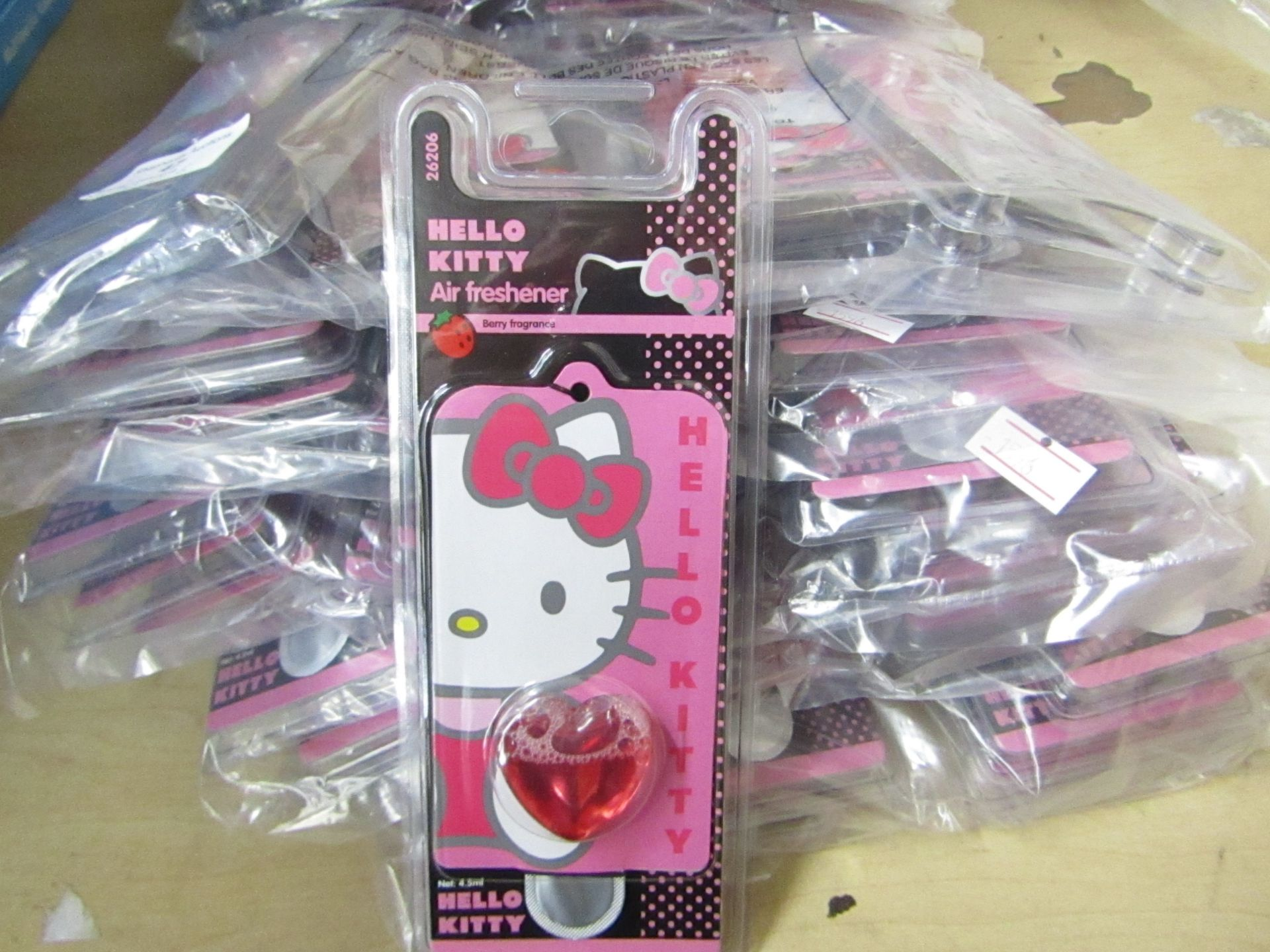 Lot 47 - Hello Kitty Berry Air Freshener 6 Packs of 6