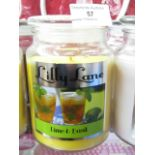 Lot 57 - Lilly Lane Candles LIME & BASIL