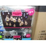 Lot 9 - 6 Packs, LED Bulb String Lights (each string contains 10 bulbs) BOXED. Needs x3 aa Batteries