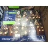 Lot 10 - LED Solar Light Bulb String Lights, approx 1.8M.