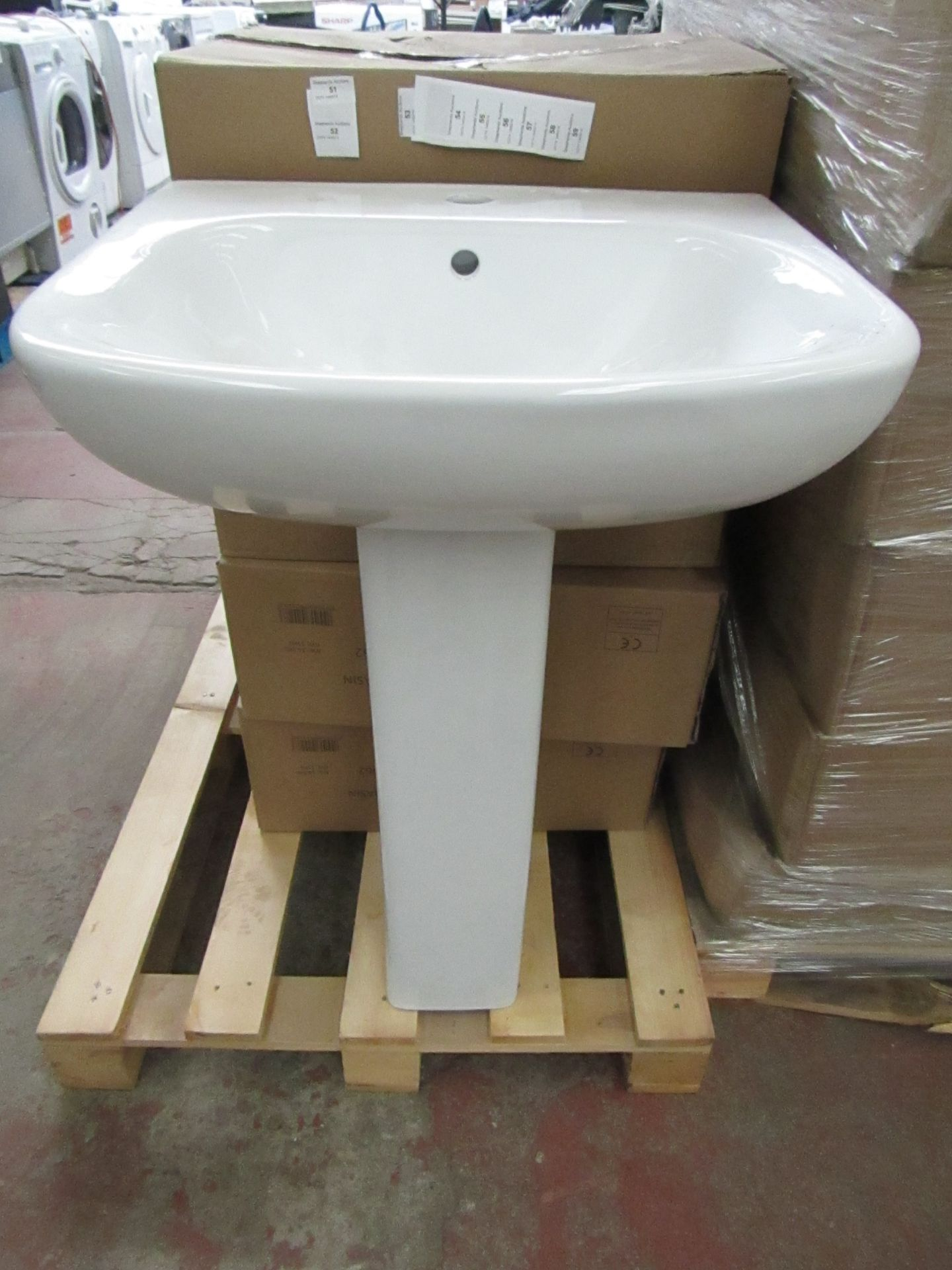Lot 54 - Seattle 540mm sink with a Albany/Solene full pedestal, the pedestal is the same as the seattle