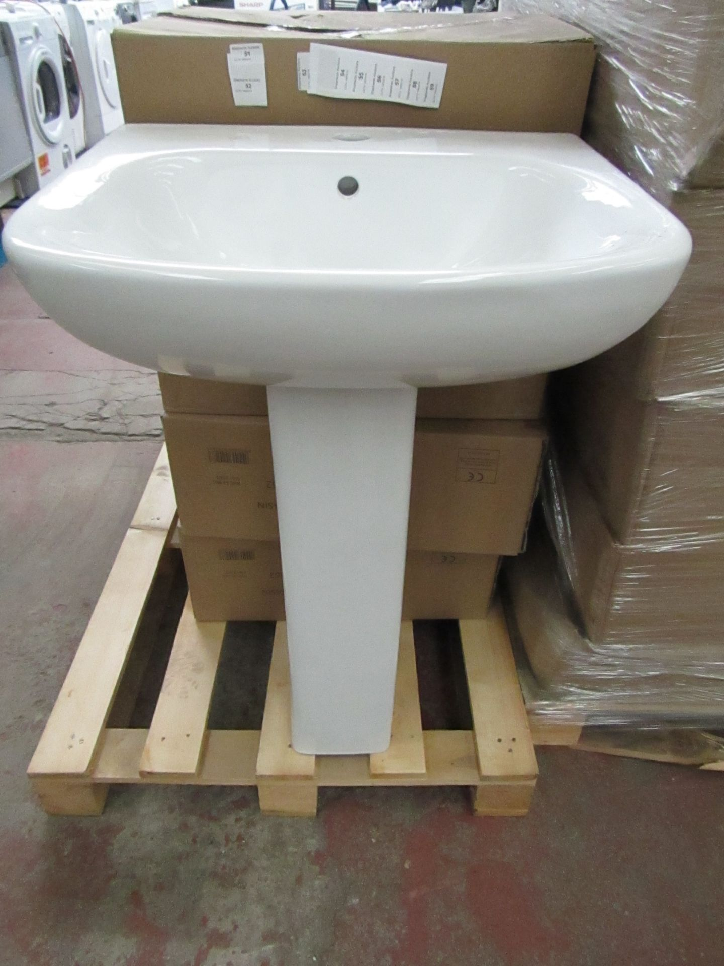 Lot 56 - Seattle 540mm sink with a Albany/Solene full pedestal, the pedestal is the same as the seattle
