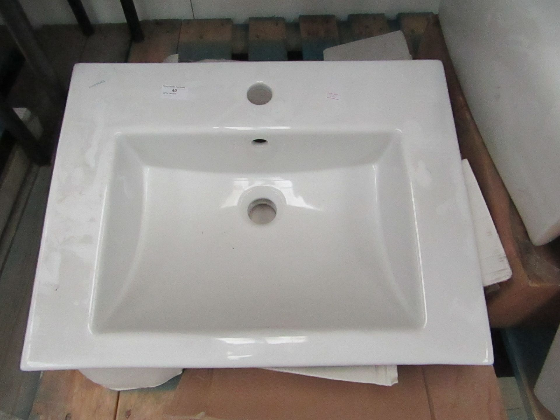 Lot 40 - Fayans 550mm inset basin with box