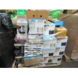 Lot 8 - Pallet of approx between 80-100 faulty audio items including Docking stations, Phones and Radios.