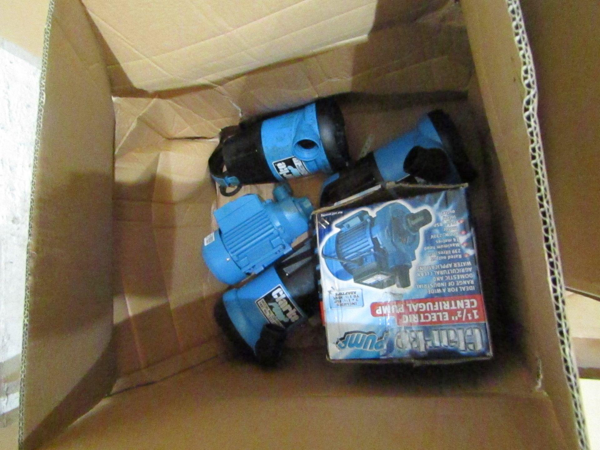 "Lot 15 - 6x Items being; Clarke ECP15A1 1.5"" Electric Centrifugal Pump (230V) - £107.98 Clarke BIP1000 1"""