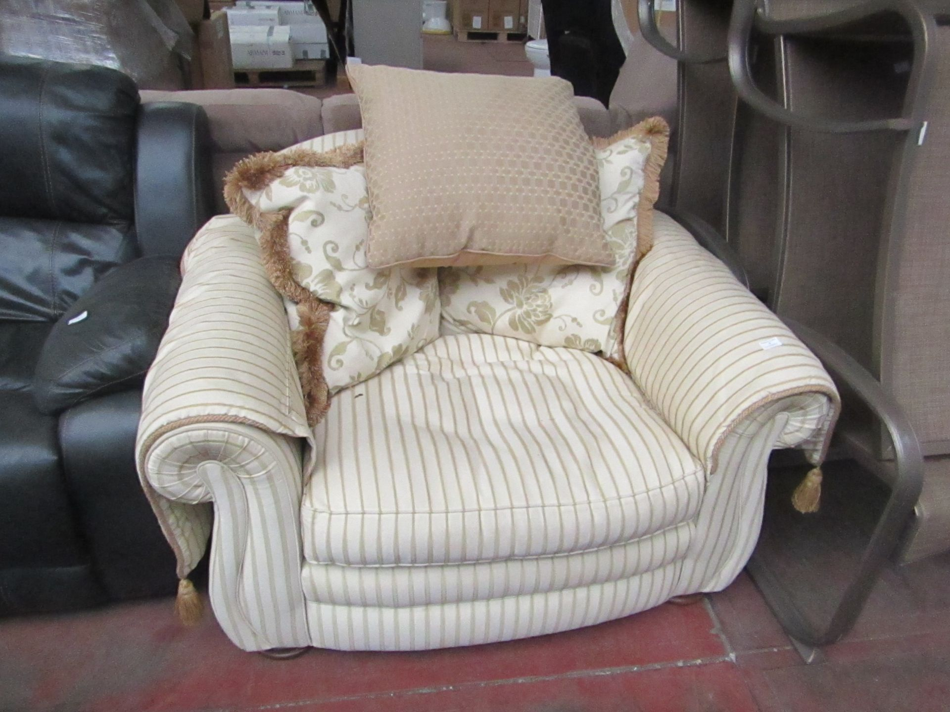 Lot 5 - Peter Guild Fabric Arm chair  with cushions