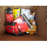 Lot 1 - Box of Various Stationary including Pens, Highlighters, Adhesive pads and more . . ..