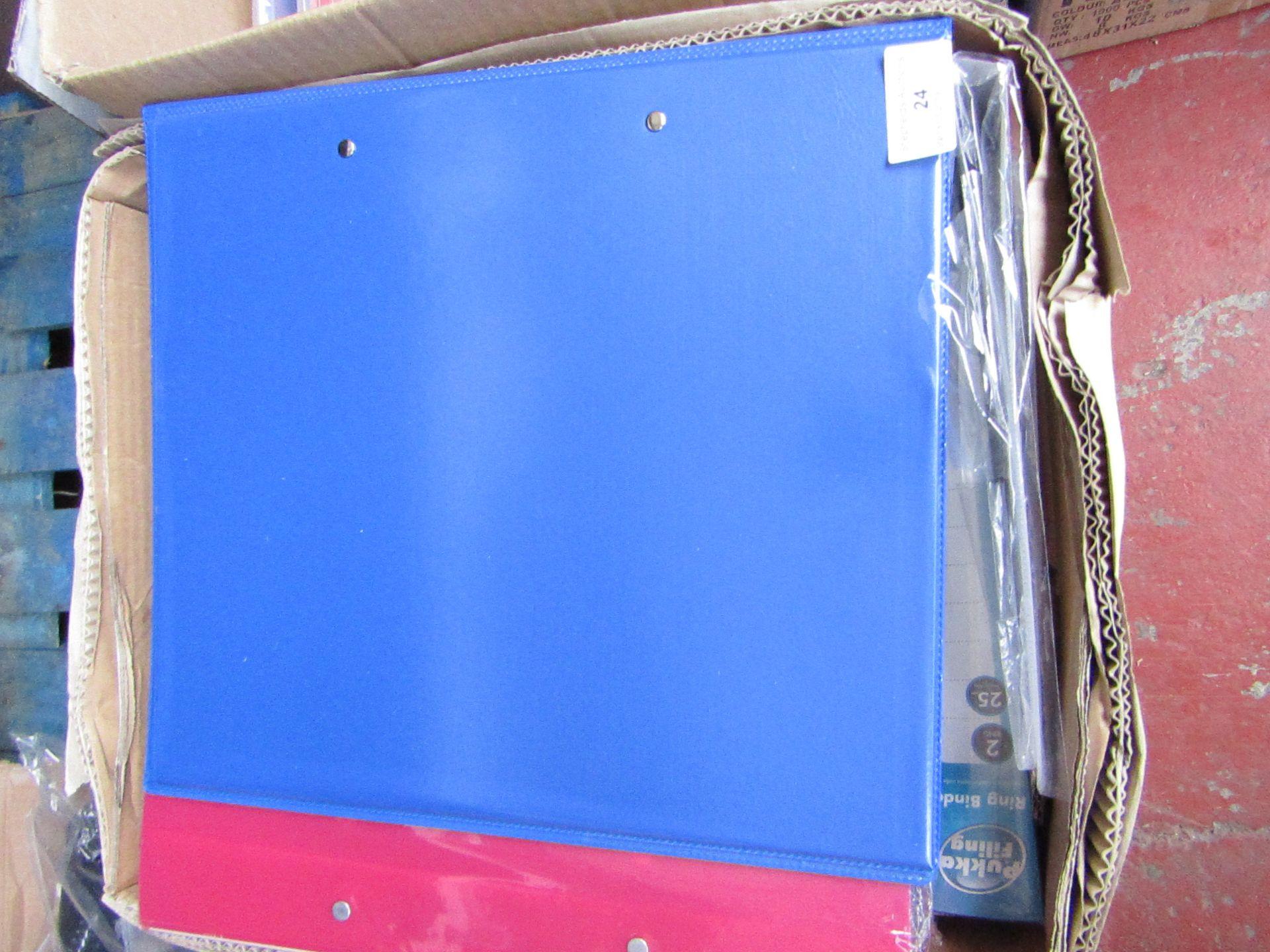 Lot 24 - Box of approx 16x A4 ring binders folders