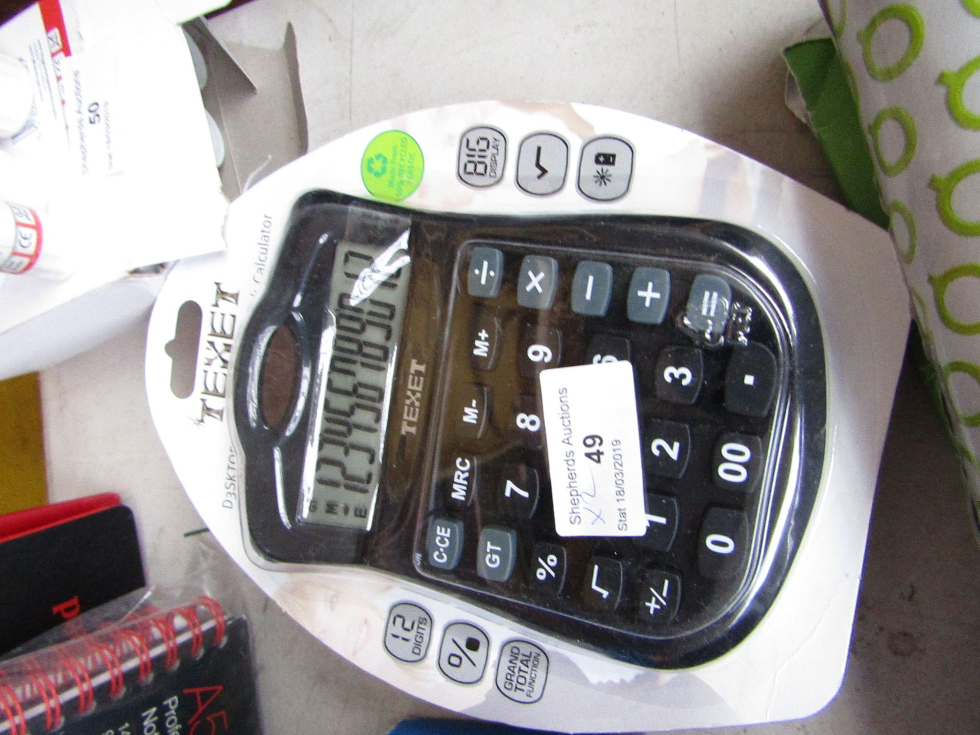 Lot 49 - 2x Texet Dual Powered Calculator, still in packaging