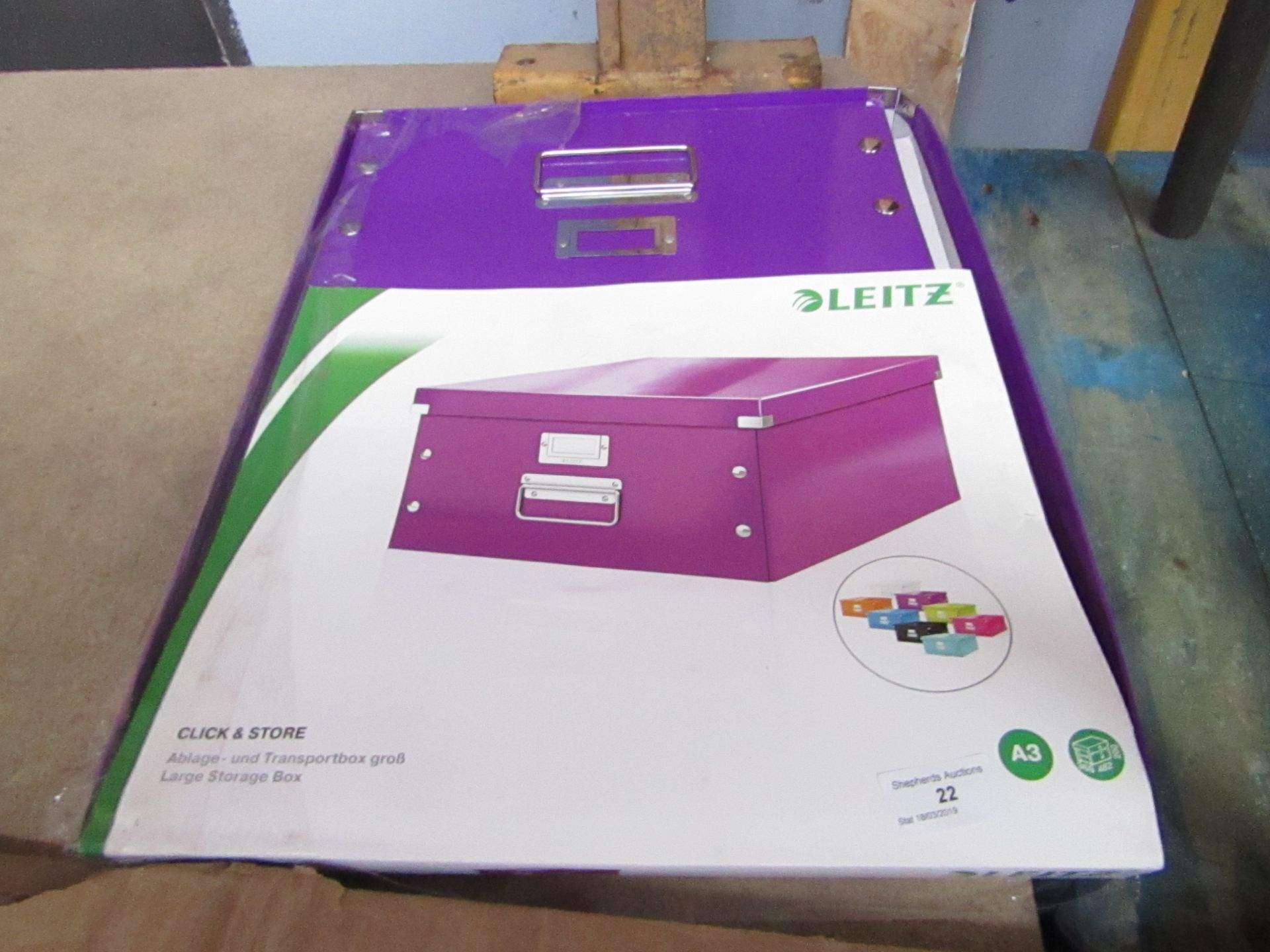 Lot 22 - Leitz Click and Store Large storage box