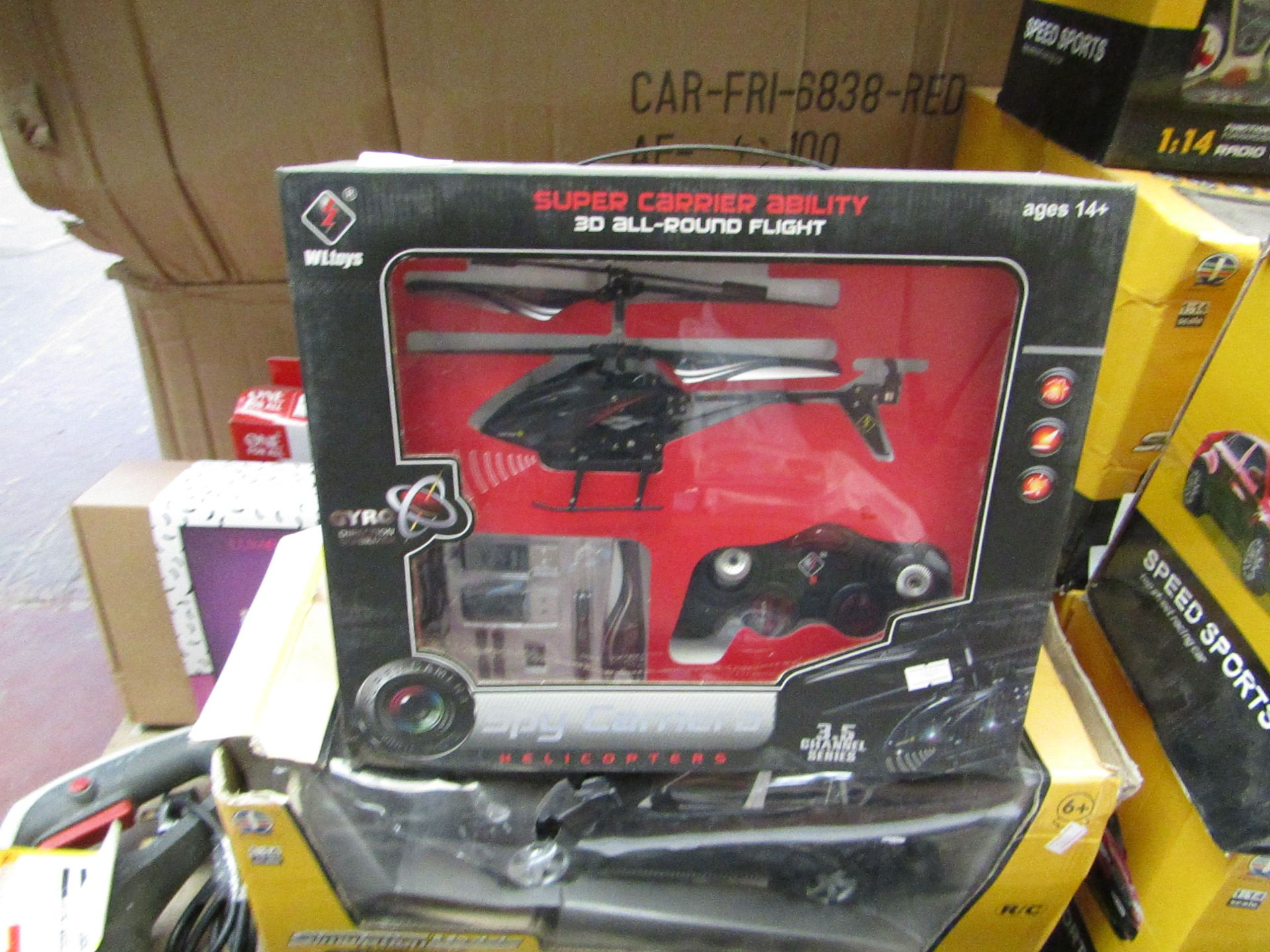Lot 15 - Super Carrier Ability, 3D all-round flight. Remote control Spy Camera Helicopter, unused in box