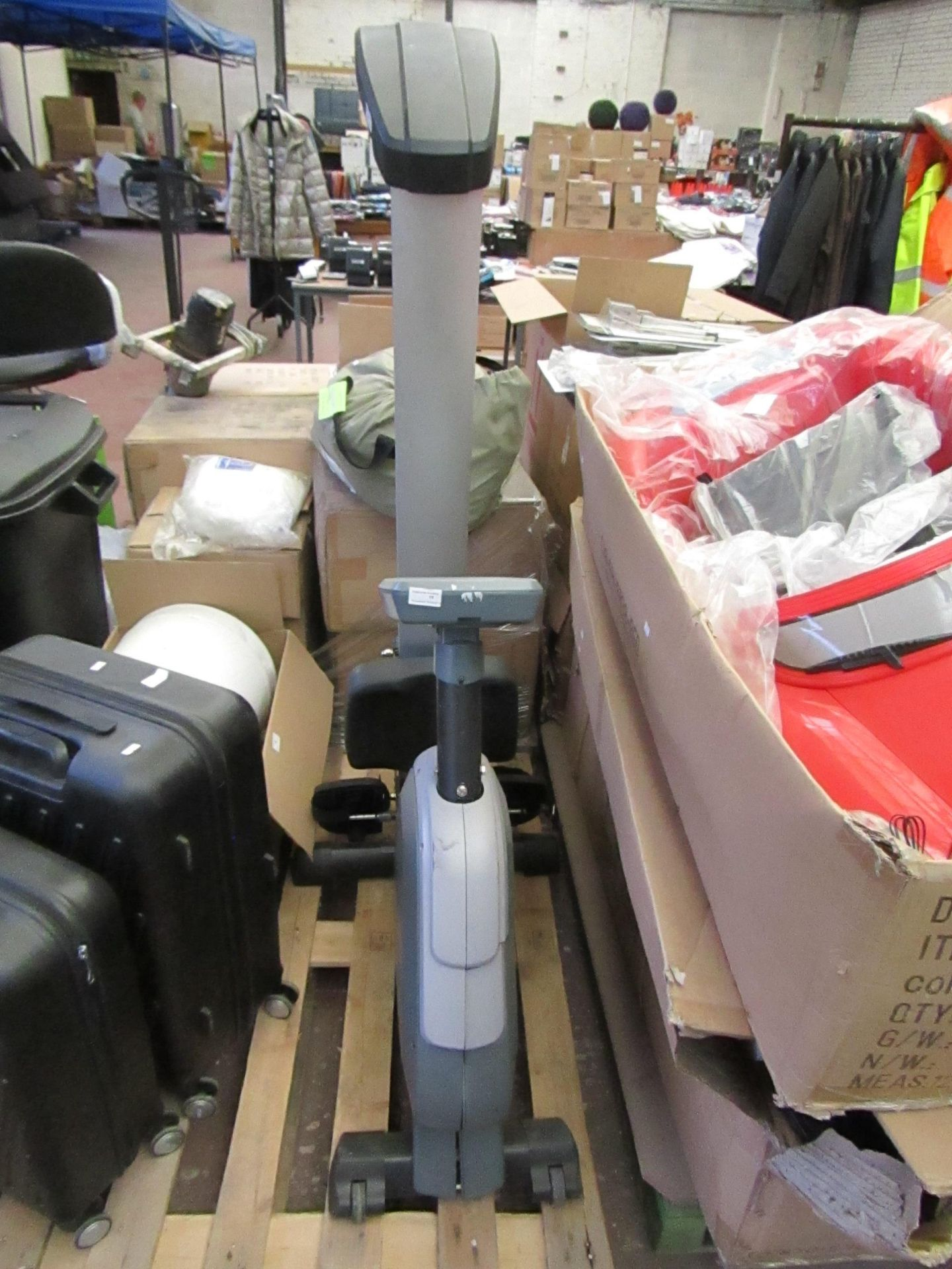 Lot 10 - Kettler Axos rowing machine with LCD interactive display, untested.