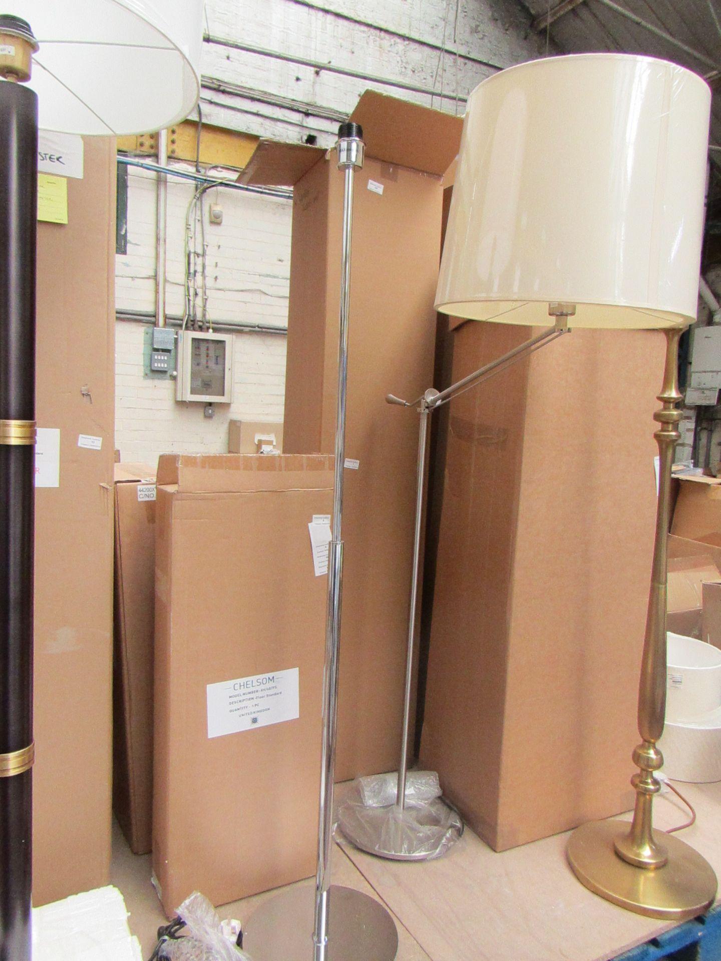 Lot 11 - Cheslom AV/60/FS Chrome Floor lamp, boxed