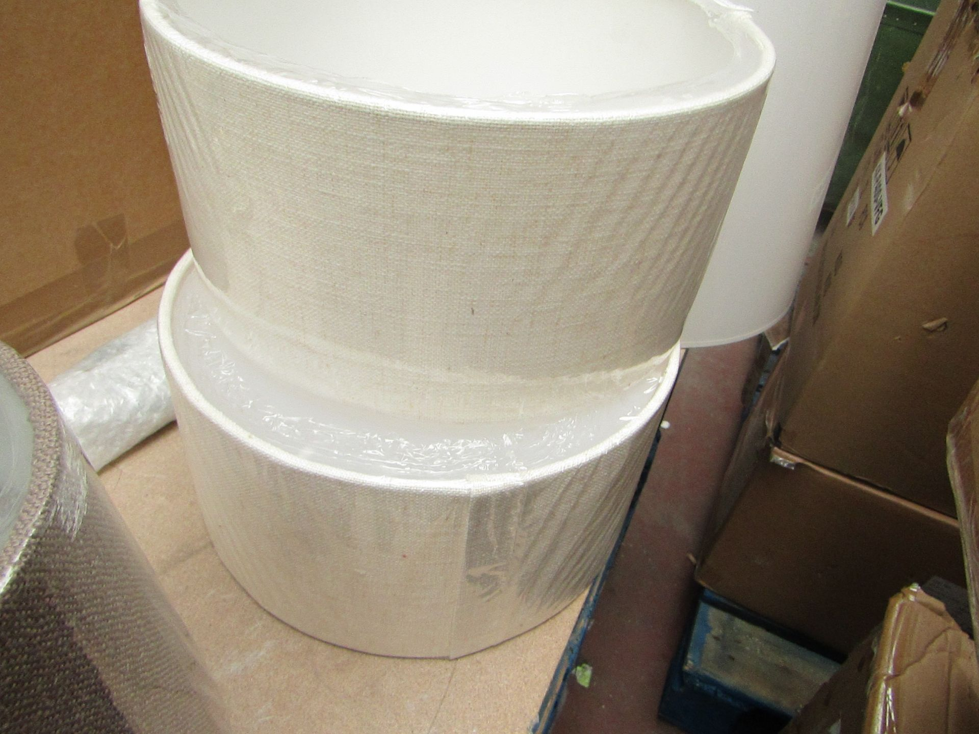 Lot 2 - 2x 30cm matural froted diffuser lamp shades