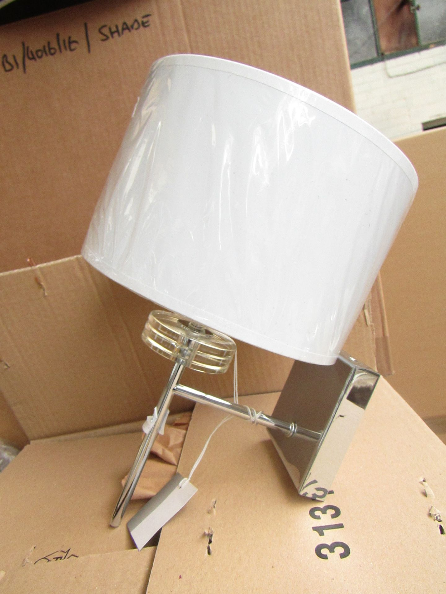 Lot 39 - Chelsom Chrome wall light with shade