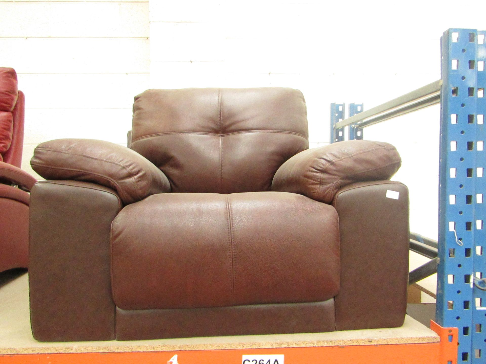 Lot 9 - Abbyson Furniture leather armchair