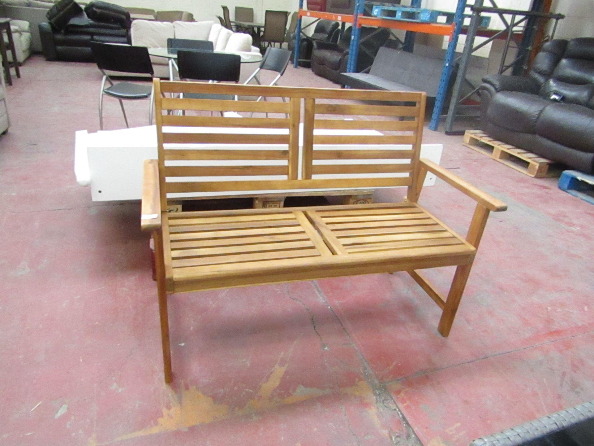 Lot 24 - 2 seater wooden garden bench